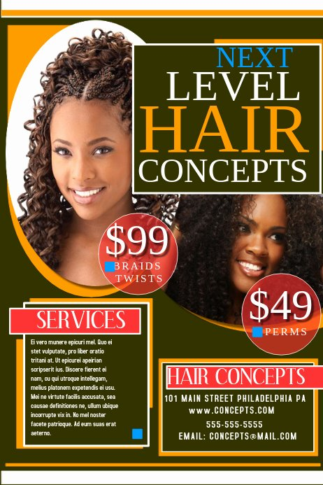 Hair Salon Flyer Templates Free Lovely Hair Salon Flyer