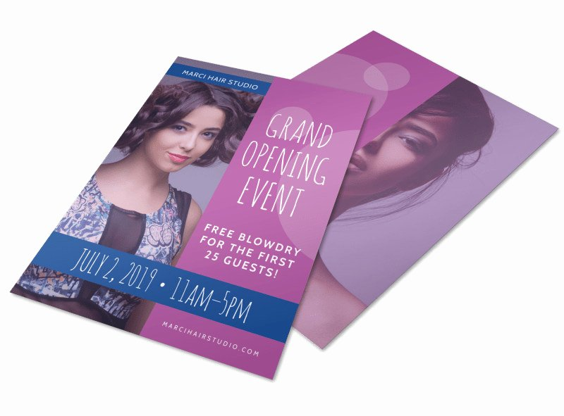 Hair Salon Flyer Templates Free Lovely Hair Salon Grand Opening Specials Flyer Template
