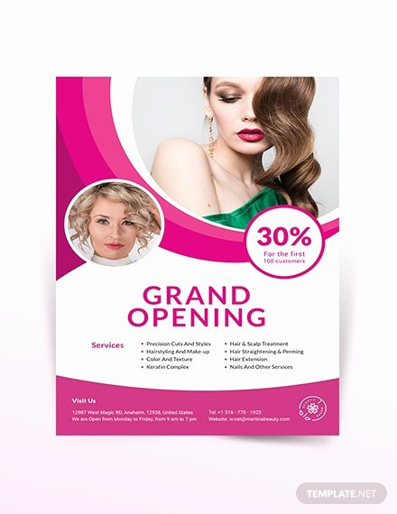 Hair Salon Flyer Templates Free Luxury Free Beauty Salon Flyer Template Intemplate Download 681