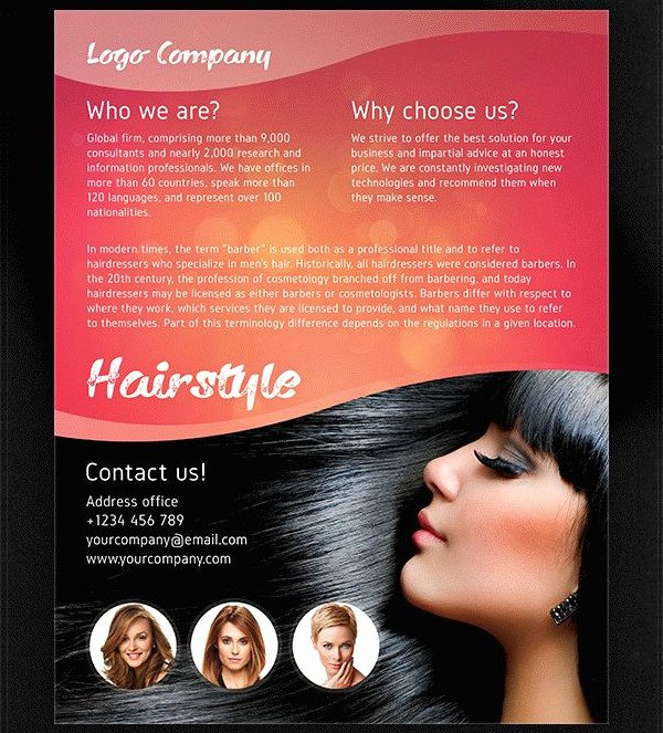 Hair Salon Flyer Templates Free Unique 25 Hair Salon Flyer Templates Free & Premium Download