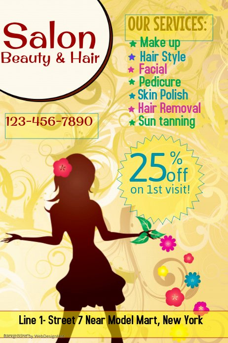 Hair Salon Flyer Templates Free Unique Beauty and Hair Salon Flyer Template