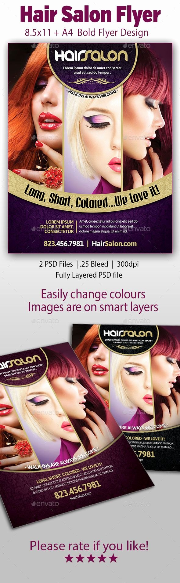 Hair Salon Flyer Templates Free Unique Hair Salon Flyer