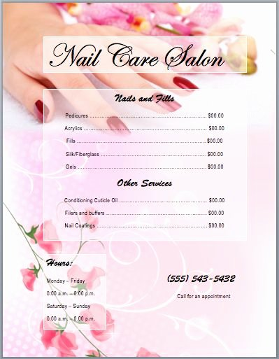Hair Salon Price List Template Best Of Best 25 Nail Salon Prices Ideas On Pinterest