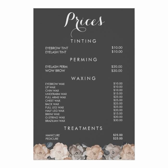 Hair Salon Price List Template New 25 Best Nail Salon Prices Ideas On Pinterest