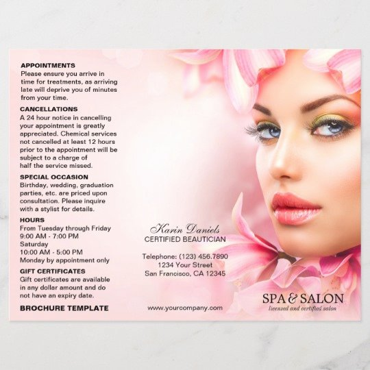 Hair Salon Price List Template New Spa and Salon Service Menu and Price List Template