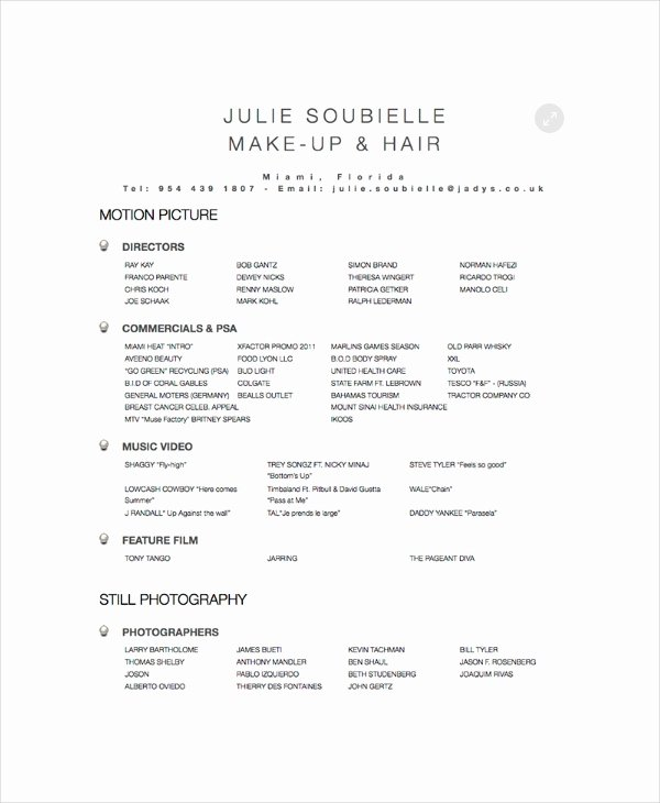 Hair Stylist Resume Template Lovely Hair Stylist Resume Example 6 Free Pdf Psd Documents