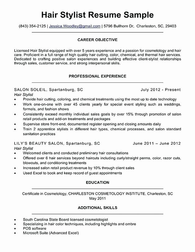 Hair Stylist Resume Templates Beautiful southbeachcafesf