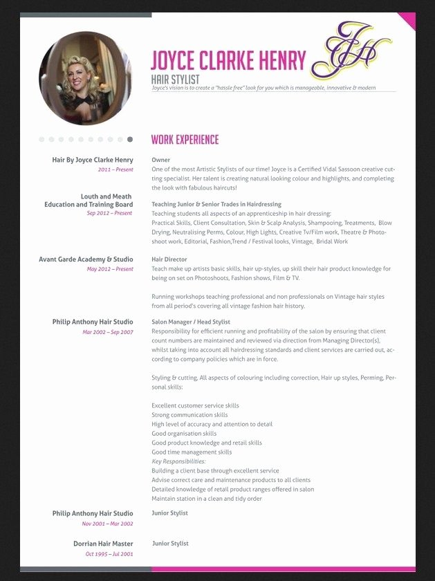 Hair Stylist Resume Templates Best Of Professional Hair Stylist Resume Jobresumesample