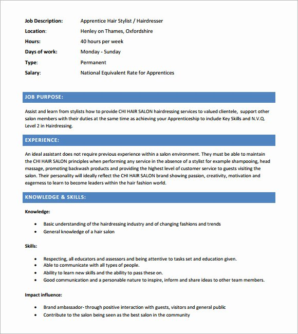 Hair Stylist Resume Templates Fresh Sample Hairdressing Cv Template 7 Download Documents In Pdf