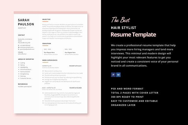 Hair Stylist Resume Templates Inspirational Hair Stylist Resume Template