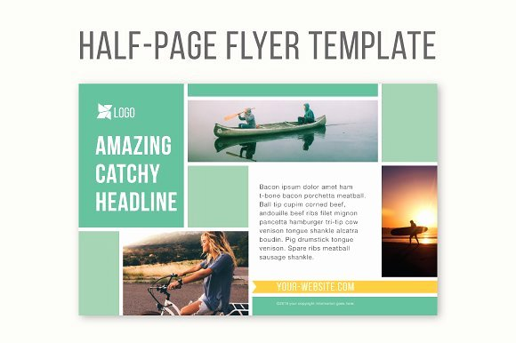 Half Page Flyer Template Free Beautiful Half Page Flyer Template Templates Creative Market