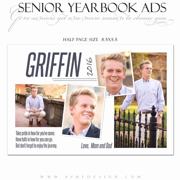 Half Page Flyer Template Free Elegant ashe Design Senior Yearbook Ad