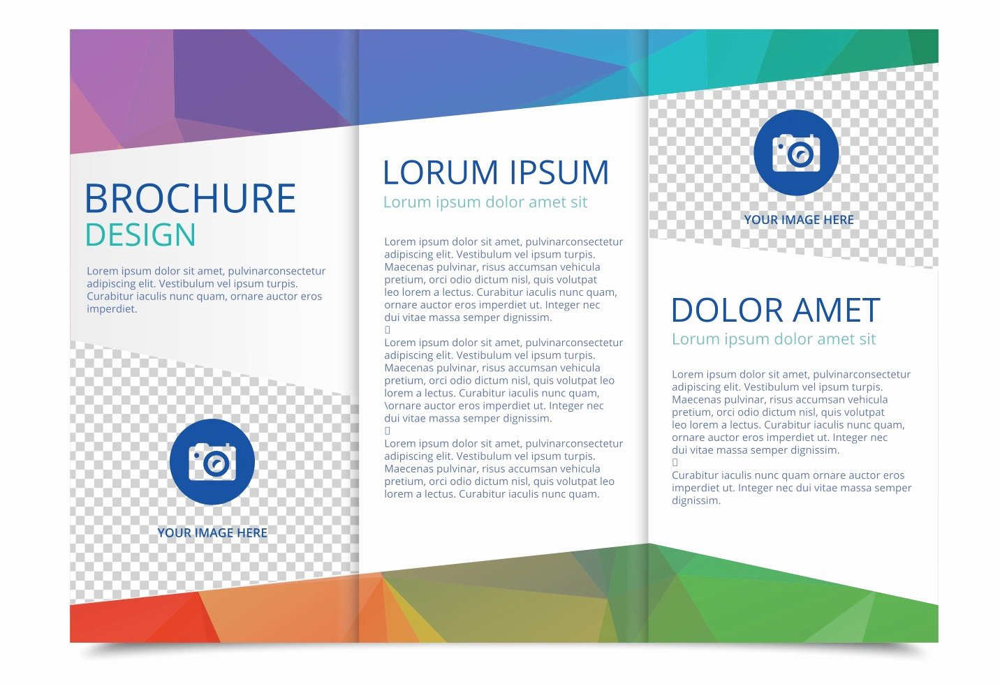 Half Page Flyer Template Free Fresh Free Tri Fold Brochure Vector Template Download Free