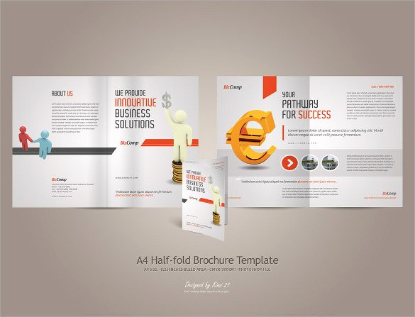 Half Page Flyer Template Free Luxury 26 Half Fold Brochures 25 Psd Vector Eps