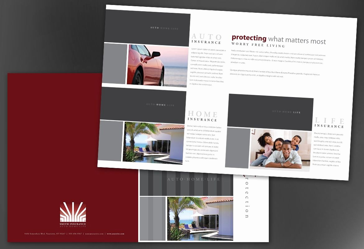 Half Page Flyer Template Free Luxury Half Fold Brochure Template for Insurance Agent Insurance