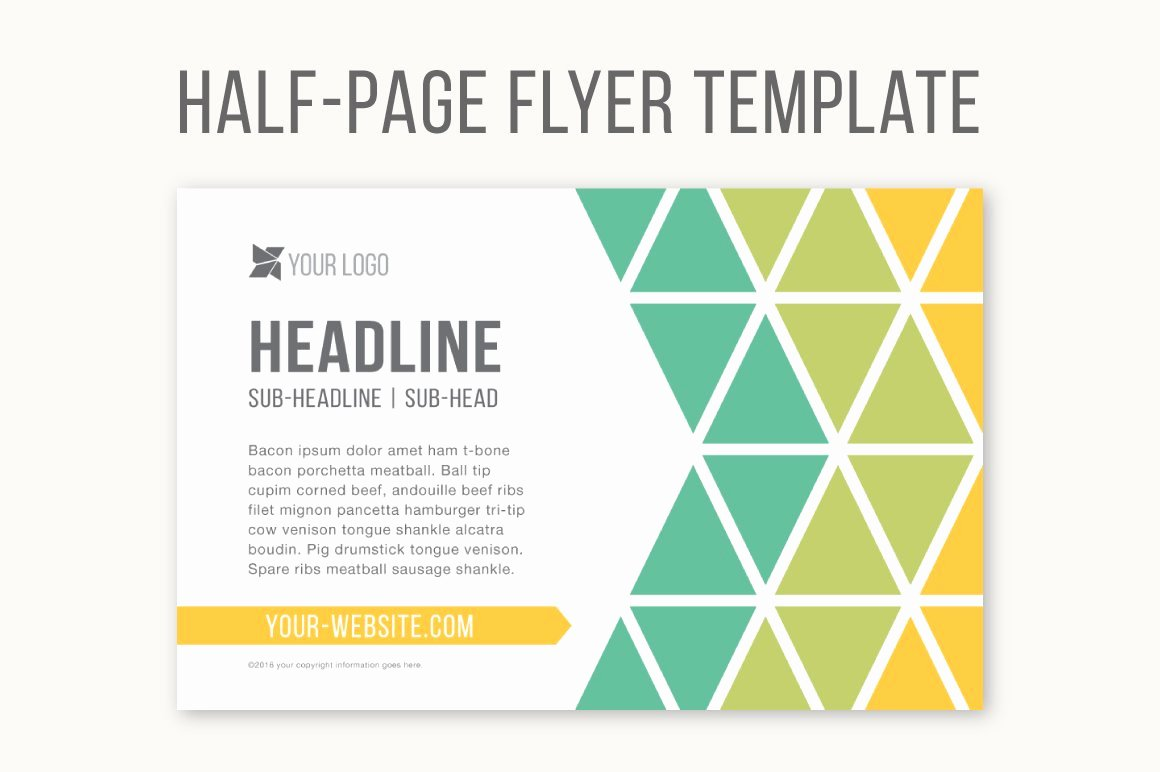 Half Page Flyer Template Free New Half Page Flyer Template Templates Creative Market