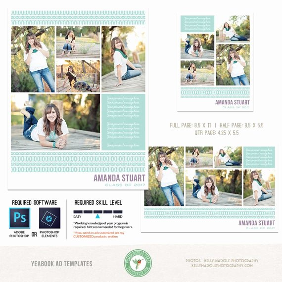 Half Page Flyer Template Free New Yearbook Ad Templates Senior Ad Graduation Ad High School