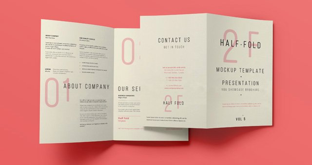 Half Page Flyer Template Free Unique Psd Bi Fold Mockup Template Vol5