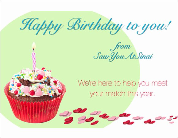 Happy Birthday Email Template Awesome 7 Sample Happy Birthday Emails Psd Vector Eps