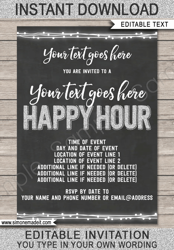 Happy Birthday Email Template Awesome Happy Hour Invite Template