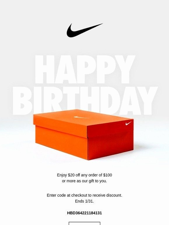 Happy Birthday Email Template Inspirational Happy Birthday From Nike Nike Design E Mail