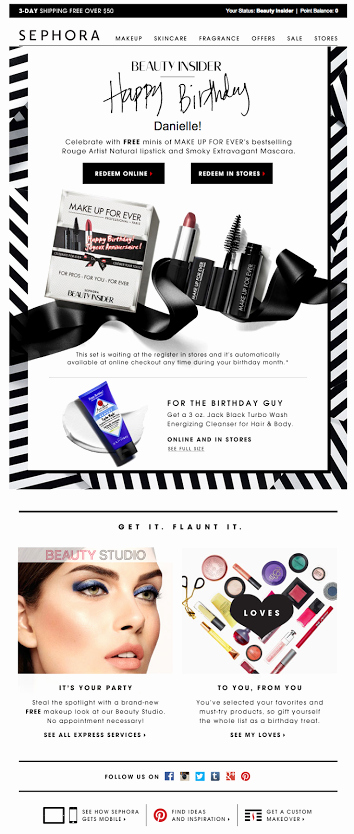Happy Birthday Email Template Inspirational Sephora Birthday Email Sl Happy Early Birthday 06 2