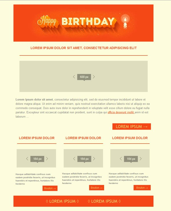 Happy Birthday Email Template Lovely Happy Birthday Email Template Free for
