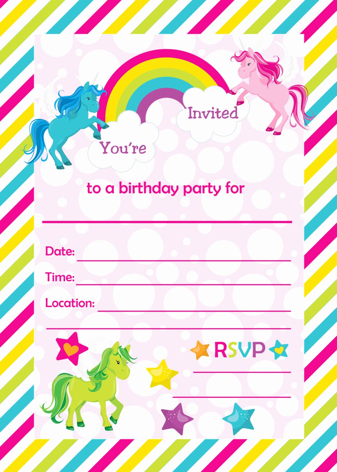 Happy Birthday Email Template Luxury Free Unicorn Baby Shower Invitation Templates