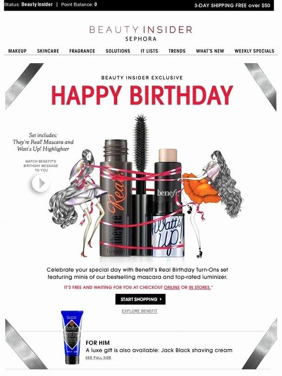 Happy Birthday Email Template New Happy Birthday Sephora Email Auto Birthday
