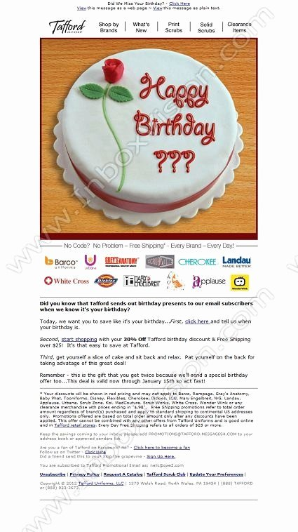 Happy Birthday Email Template Unique 41 Best Email Creative Birthday Images On Pinterest