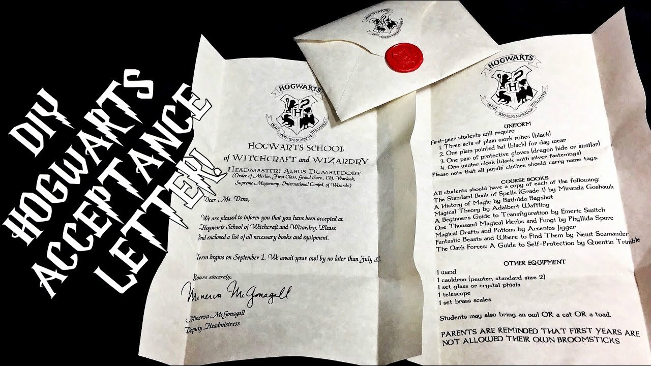 Harry Potter Letter Template Beautiful Diy Hogwarts Acceptance Letter