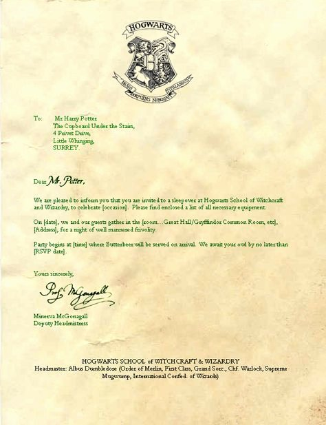 Harry Potter Letter Template Beautiful I'm A What Library events