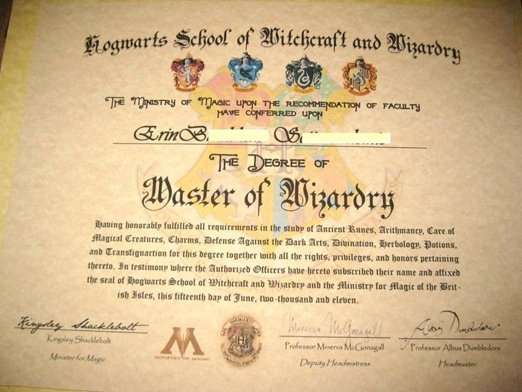 Harry Potter Letter Template Beautiful Make Your Own Harry Potter Hogwarts Diploma Acceptance