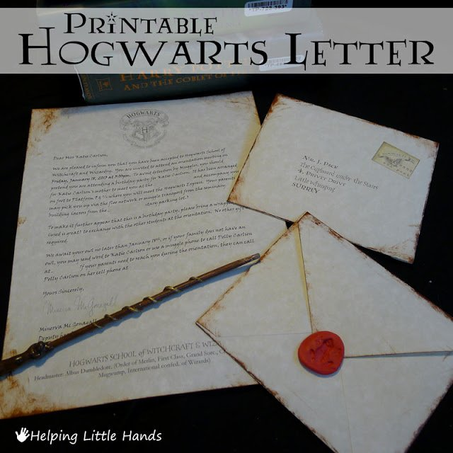Harry Potter Letter Template Beautiful Pieces by Polly Printable Hogwarts Acceptance Letters or