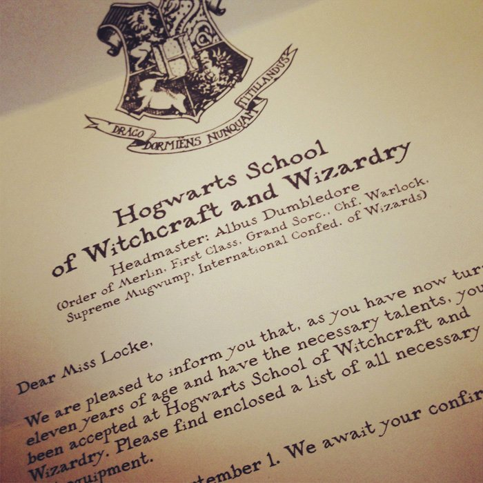 Harry Potter Letter Template Beautiful You've Been Accepted … to Hogwarts – Sean Locke Graphy
