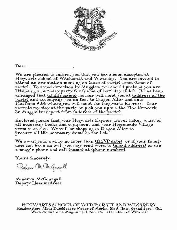 Harry Potter Letter Template Best Of Free Printable Hogwarts Invitation Template