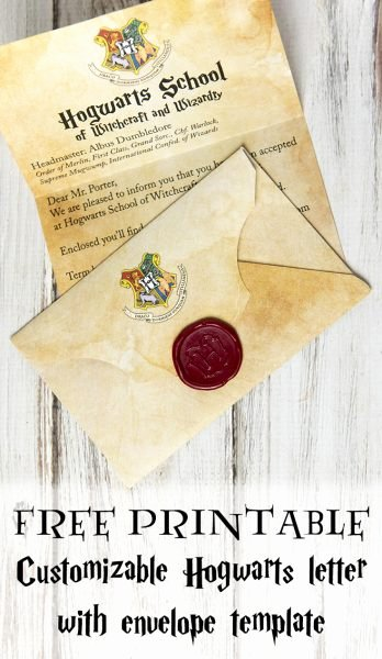 Harry Potter Letter Template Fresh Make Your Own Free Printable and Customizable Hogwarts Letter