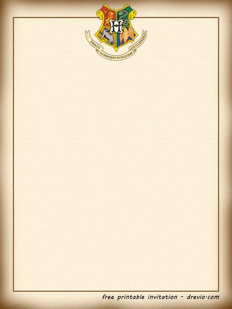 Harry Potter Letter Template Luxury Free Printable Harry Potter Hogwarts Invitation Template