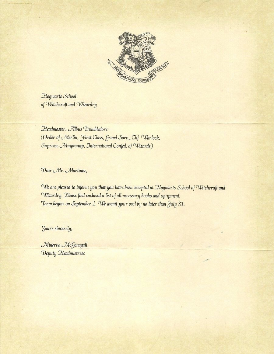 Harry Potter Letter Template New Hogwarts Acceptance Letter P1 by Javi3108 On Deviantart