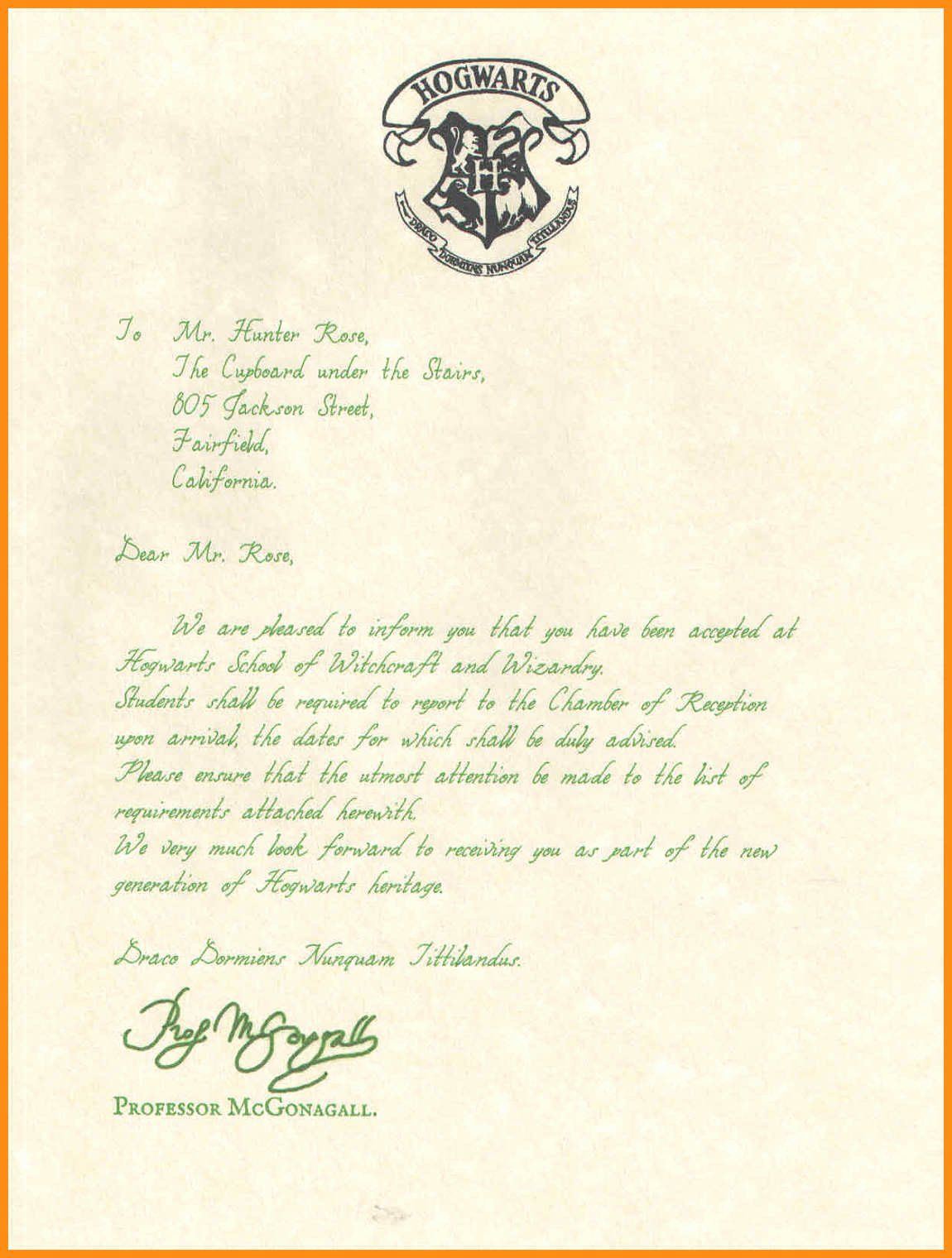 Harry Potter Letter Template Unique 19 Harry Potter Hogwarts Acceptance Letter Pdf