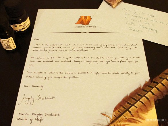 Harry Potter Letter Template Unique Sample Hogwarts Acceptance Letter 8 Download Documents