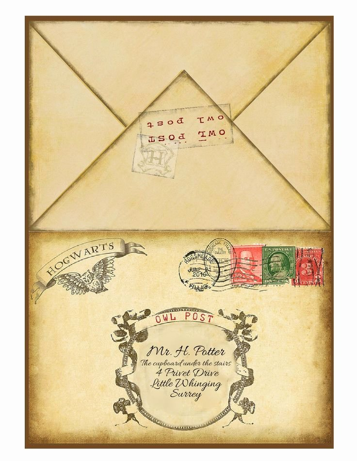 Harry Potter Letter Template Unique Well All Of My Planning and Designing Printing Cutting Etc