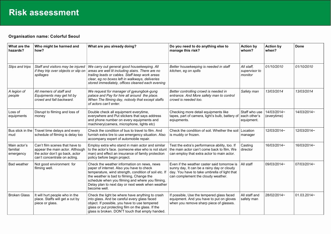 Health Risk assessment Questionnaire Template Beautiful [ ] Health and Safety Policy & Risk assessment