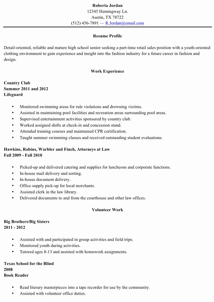 High School Graduate Resume Template Beautiful 10 High School Resume Template Free Download