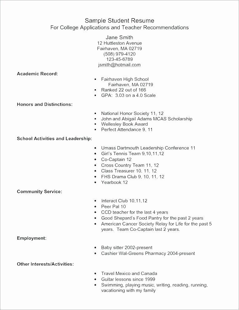 High School Graduate Resume Template Beautiful 8 Graduate Student Resume