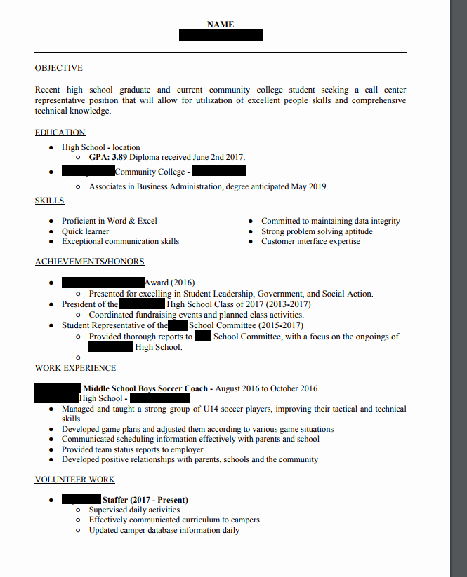 High School Graduate Resume Template Beautiful Recent High School Graduate Resume Resume Ideas