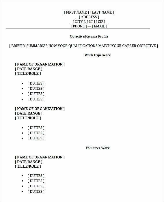 High School Graduate Resume Template Best Of High School Graduate Resume format Pdf … Resume