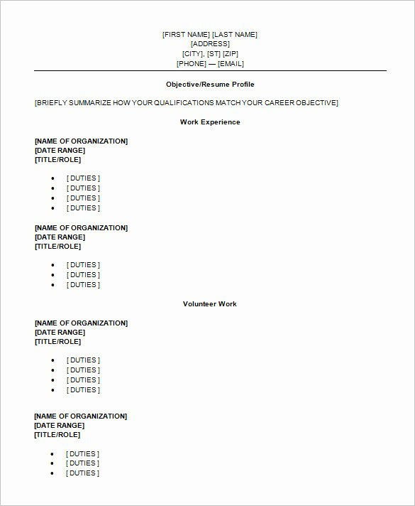High School Graduate Resume Template Elegant High School Graduate Resume Template Microsoft Word