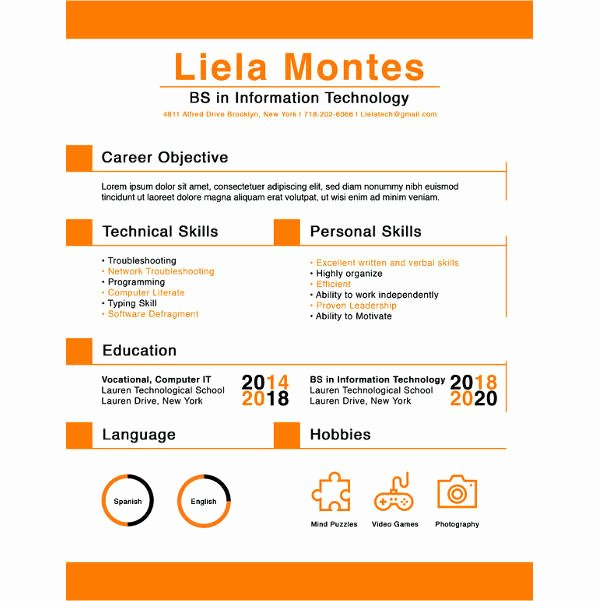 High School Graduate Resume Template Inspirational 10 High School Graduate Resume Templates Pdf Doc