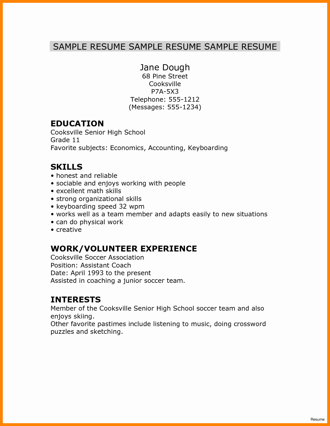 High School Graduate Resume Template Lovely 5 Resumes for High School Graduate